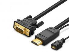 HDMI to VGA with Converter Cable / 1.5m